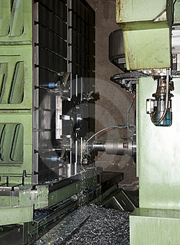 Workshop: Large Boring Machine Stock Image - Image: 15361551