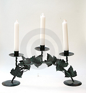 The Candlestick With Three Candles Stock Photos - Image: 15362283