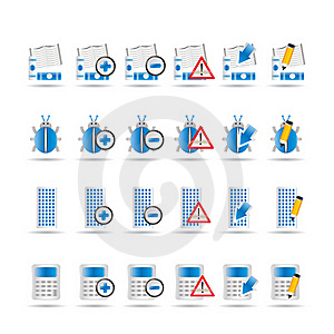 24 Business, Office And Website Icons Royalty Free Stock Photography - Image: 15362497