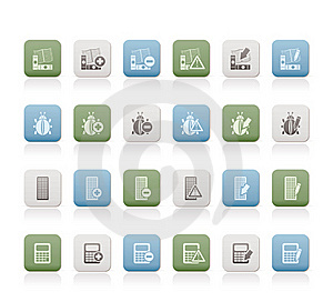 24 Business, Office And Website Icons Royalty Free Stock Photography - Image: 15362507