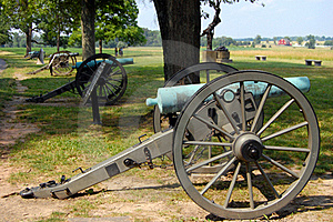 Gettysburg Cannon Line Royalty Free Stock Images - Image: 15362689