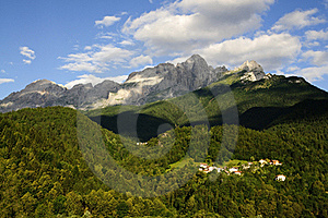 Dolomites: Monte Agner Stock Photos - Image: 15362753