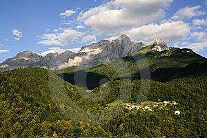Dolomites: Monte Agner Stock Photos - Image: 15362753