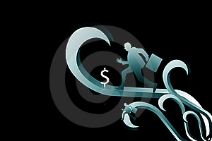 Business Man And Dollar Sign Stock Image - Image: 15365991
