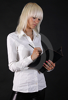 Beautiful Business Blonde Lady Stock Images - Image: 15366904