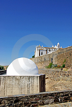 Two Temples In Monsaraz . Stock Photo - Image: 15367630