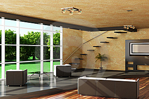 Modern Interior Of A Room. Royalty Free Stock Photography - Image: 15368377