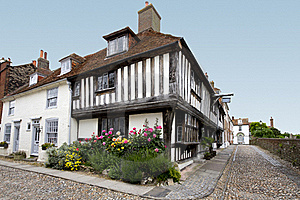 Tudor House With Flower Bed Stock Photos - Image: 15369143
