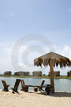 Beach Scene Royalty Free Stock Images - Image: 15370719