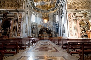 Interior Of Saint Peter's Dome Rome, Italy. Stock Photos - Image: 15370833