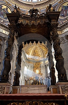 Interior Of Saint Peter's Dome Rome, Italy. Royalty Free Stock Photo - Image: 15370845