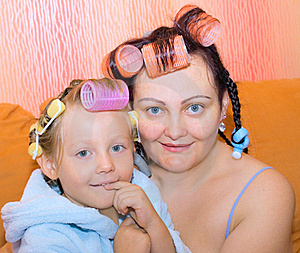 Mother, Daughter,family, Housewife; Two. Royalty Free Stock Photo - Image: 15371145