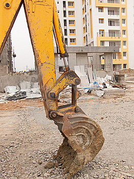Digger At Construction Site Stock Photo - Image: 15371880