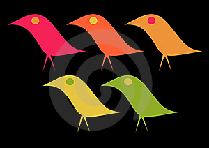 Elegant Birds Royalty Free Stock Photos - Image: 15372388