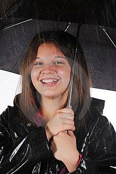 Happy In The Rain Royalty Free Stock Photo - Image: 15374055