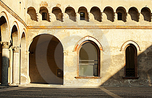 Yard Of Castle Stock Image - Image: 15374061