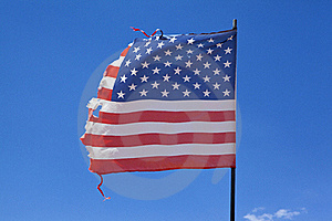 Worn American Flag Royalty Free Stock Photography - Image: 15374877