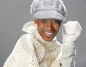 Fashionable Woman Wearing Knitwear In Studio Royalty Free Stock Image - Image: 15375656
