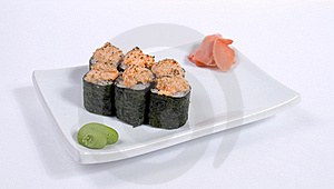Rolled And Sushi Stock Image - Image: 15376251
