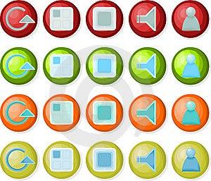 Playback Icons 02 Stock Photo - Image: 15382030