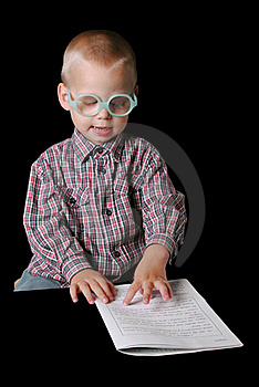 Cute Boy With Glasses Stock Photo - Image: 15382480