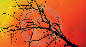 Detailed Tree With Abstract Circles Royalty Free Stock Photography - Image: 15382717