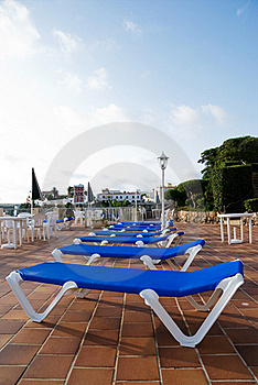 Sun Loungers Stock Images - Image: 15384624