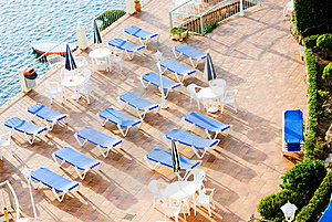 Sun Loungers Royalty Free Stock Image - Image: 15384646