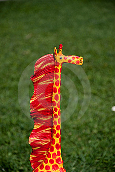 Giraffe Of Wood Of Adornment Royalty Free Stock Images - Image: 15386479