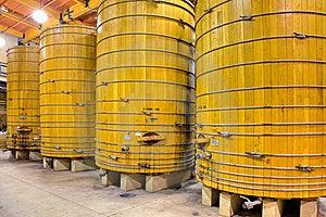 Wooden Wine Barrels Stock Image - Image: 15386481