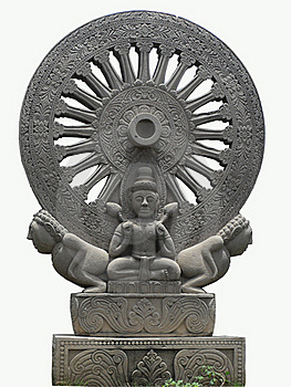 Thammachak Buddhism Royalty Free Stock Photos - Image: 15388188