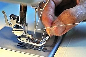 Hand Threading Needle Stock Photo - Image: 15388340