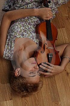 Violin Player Stock Image - Image: 15388561