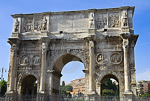 The Arch Of Constantine Stock Photo - Image: 15389060