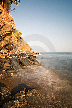 Waves On A Beach Shoreline Royalty Free Stock Photo - Image: 15389185