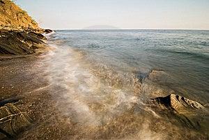 Waves On A Beach Shoreline Stock Photos - Image: 15389223