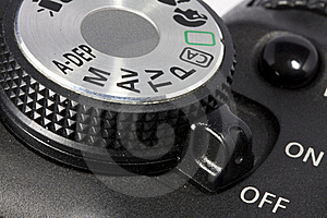Dial And On/off Button On DSLR Camera Royalty Free Stock Photos - Image: 15389518