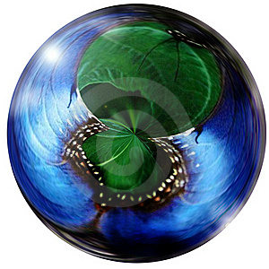 Blue And Green Sphere Glass Marble Stock Images - Image: 15390034