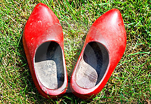 Red Wooden Shoes Stock Photos - Image: 15399213