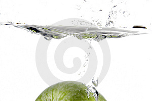 Splash of apple Stock Photos