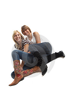 Best friends having fun Royalty Free Stock Images