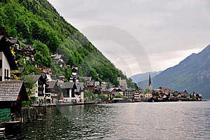 Hallstatt On The Lake Royalty Free Stock Image - Image: 15400416