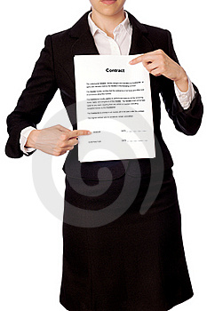 Features Of The Contract Stock Photo - Image: 15400760