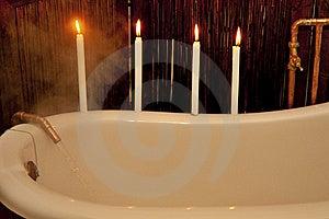 Preparing A Bath Royalty Free Stock Image - Image: 15402516