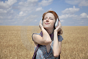 Young  Smiling Fashion With Headphones Royalty Free Stock Images - Image: 15403859