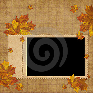 Autumn Card For The Holiday  With Leave Royalty Free Stock Photography - Image: 15405517