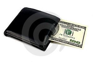 Black Purse And Dollars Royalty Free Stock Photography - Image: 15407157