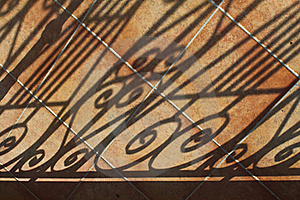 Shadows On Tiled Patio Stock Photos - Image: 15407503