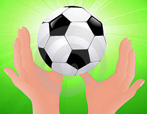 Football Bright Background Royalty Free Stock Images - Image: 15409319