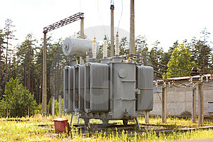 The High-voltage Transformer Royalty Free Stock Image - Image: 15410276